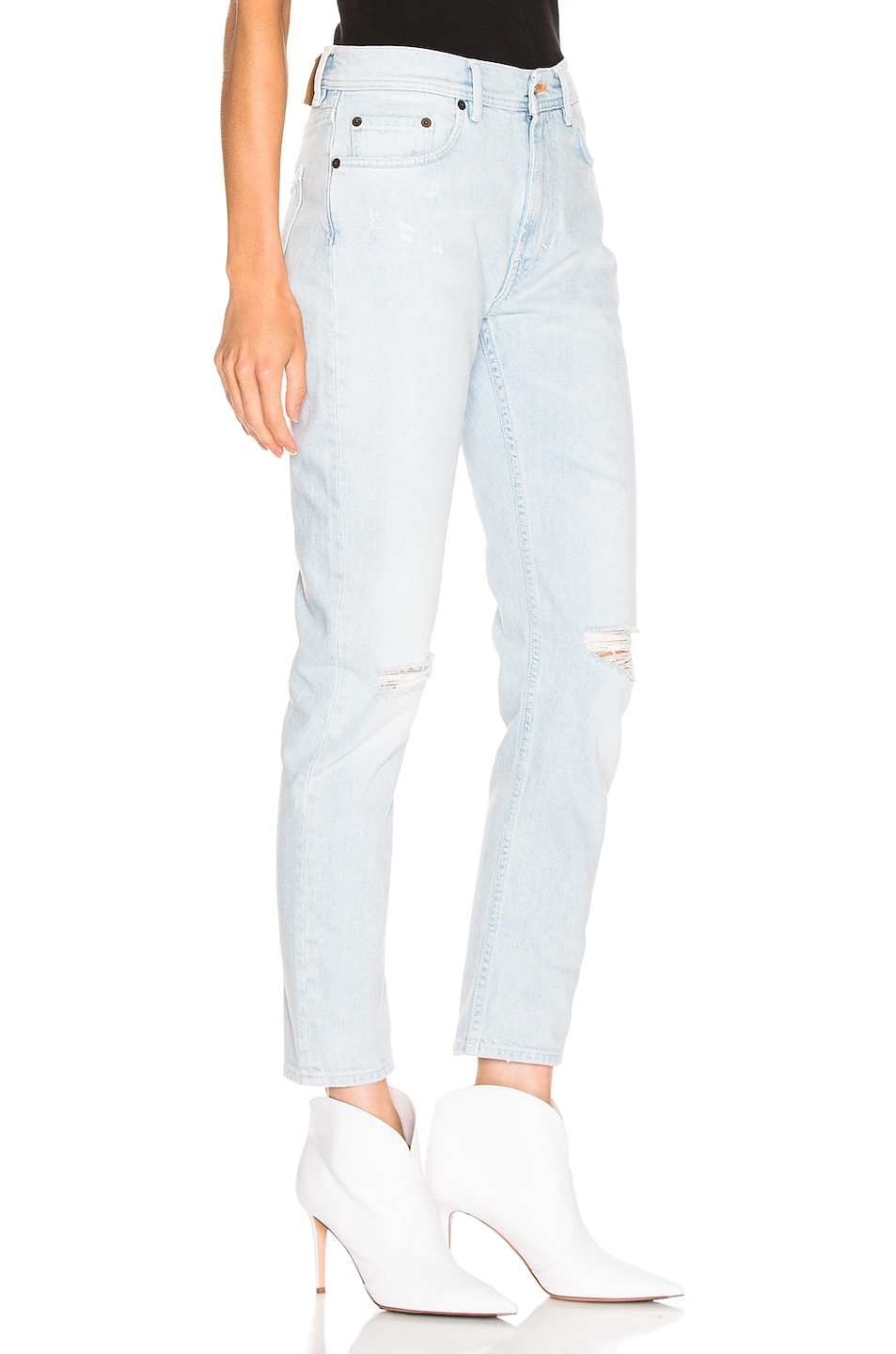 Image 2 of Acne Studios Melk Light Ripped Jean in Indigo