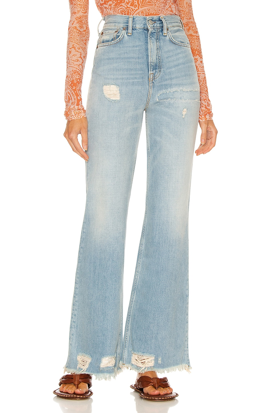 Image 1 of Acne Studios 1990 Thigh Patch Straight in Light Blue