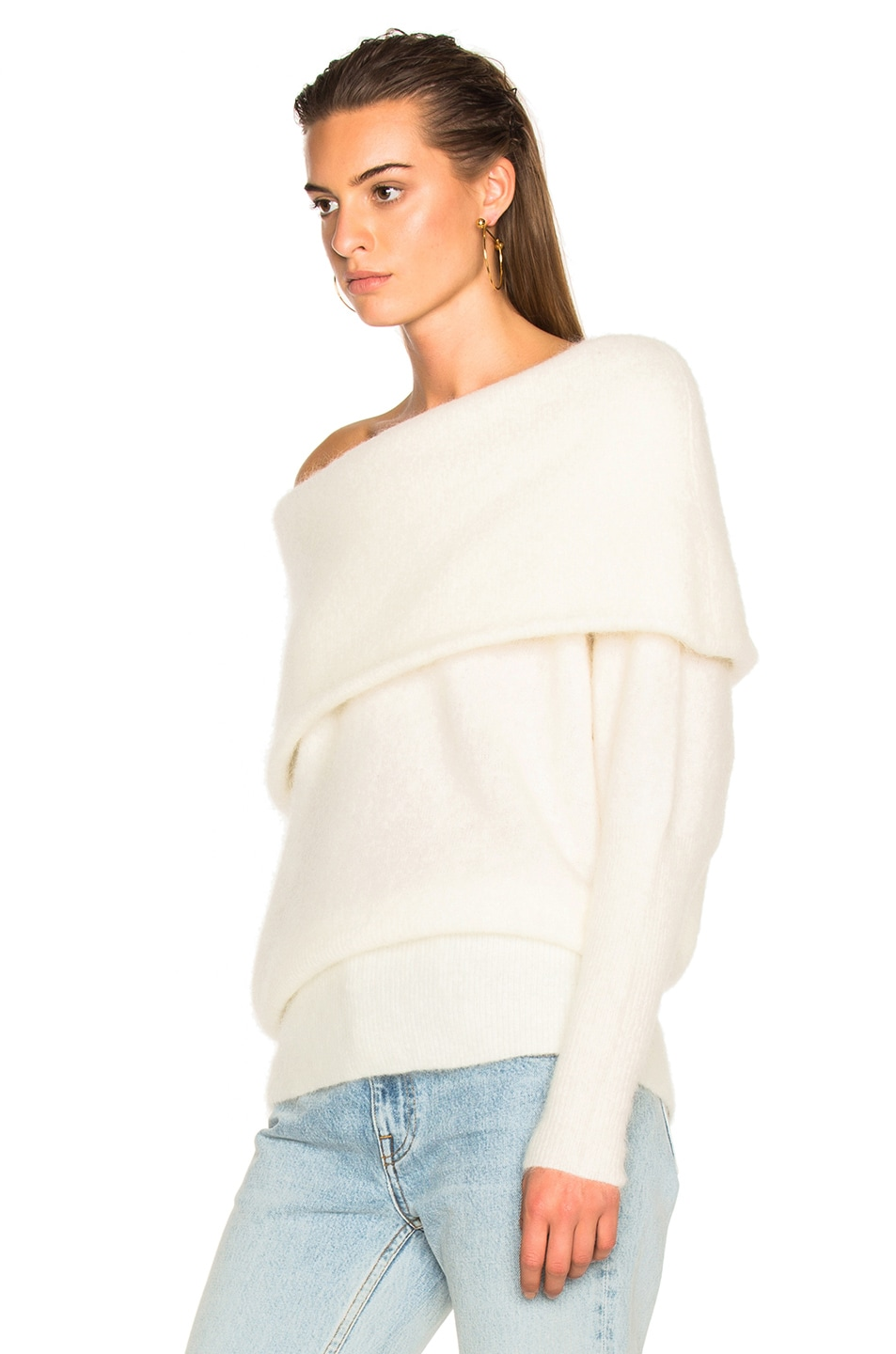 be5a8487cb25 Image 2 of Acne Studios Daze Sweater Pearl White in Pearl White