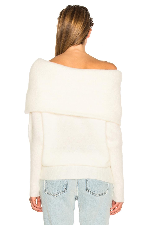 Image 4 of Acne Studios Daze Sweater Pearl White in Pearl White