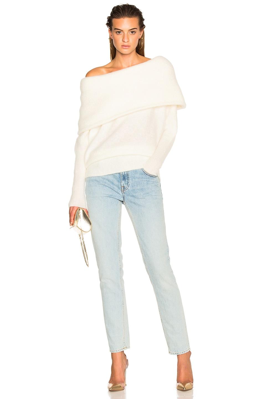 Image 6 of Acne Studios Daze Sweater Pearl White in Pearl White