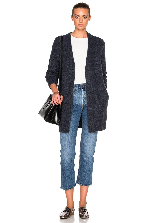 Image 1 of Acne Studios Raya Short Sweater in Smokey Blue