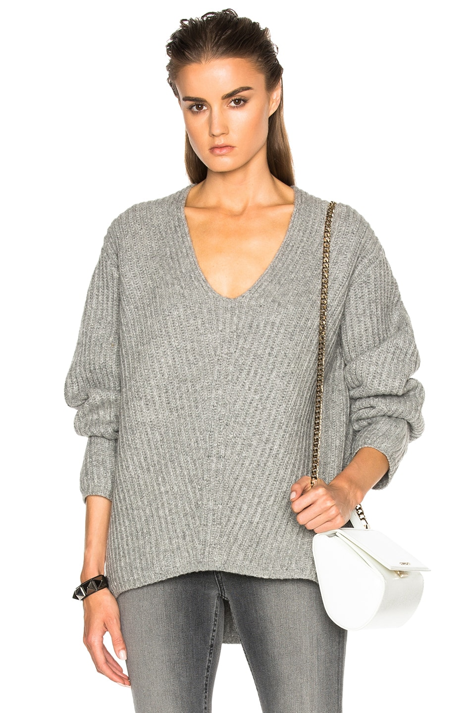 Image 1 of Acne Studios Deborah Sweater in Pale Grey Melange