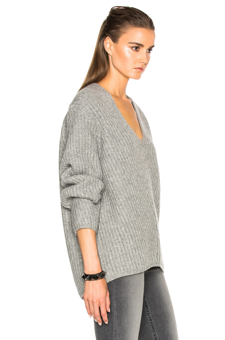 Image 3 of Acne Studios Deborah Sweater in Pale Grey Melange