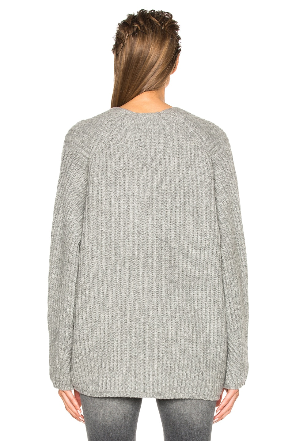 Image 4 of Acne Studios Deborah Sweater in Pale Grey Melange