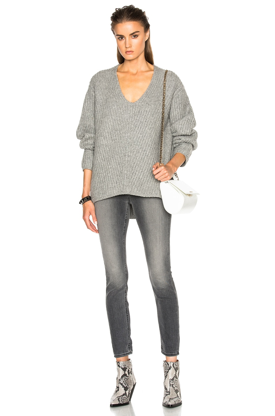 Image 5 of Acne Studios Deborah Sweater in Pale Grey Melange