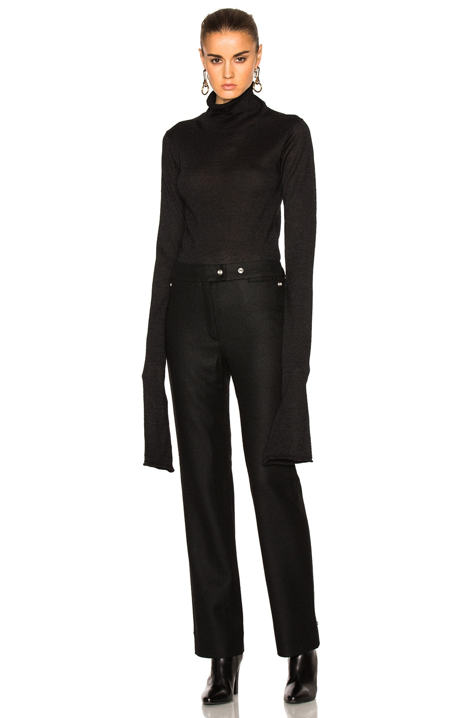 Image 1 of Acne Studios Jiao Turtleneck Sweater in Black