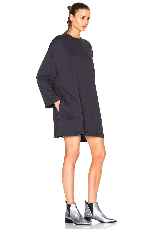 fc30a664ee6 Image 3 of Acne Studios Leyla Fleece Sweater Dress in Dusty Navy