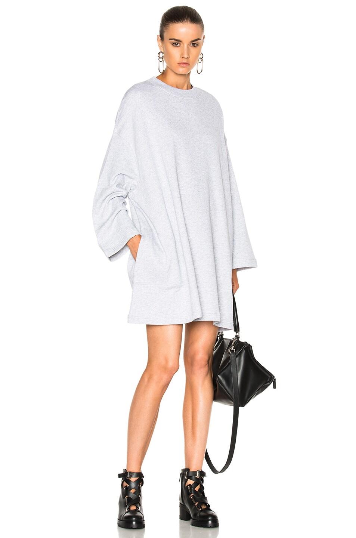 3cee921df8d Image 1 of Acne Studios Leyla Fleece Sweater Dress in Gray Melange
