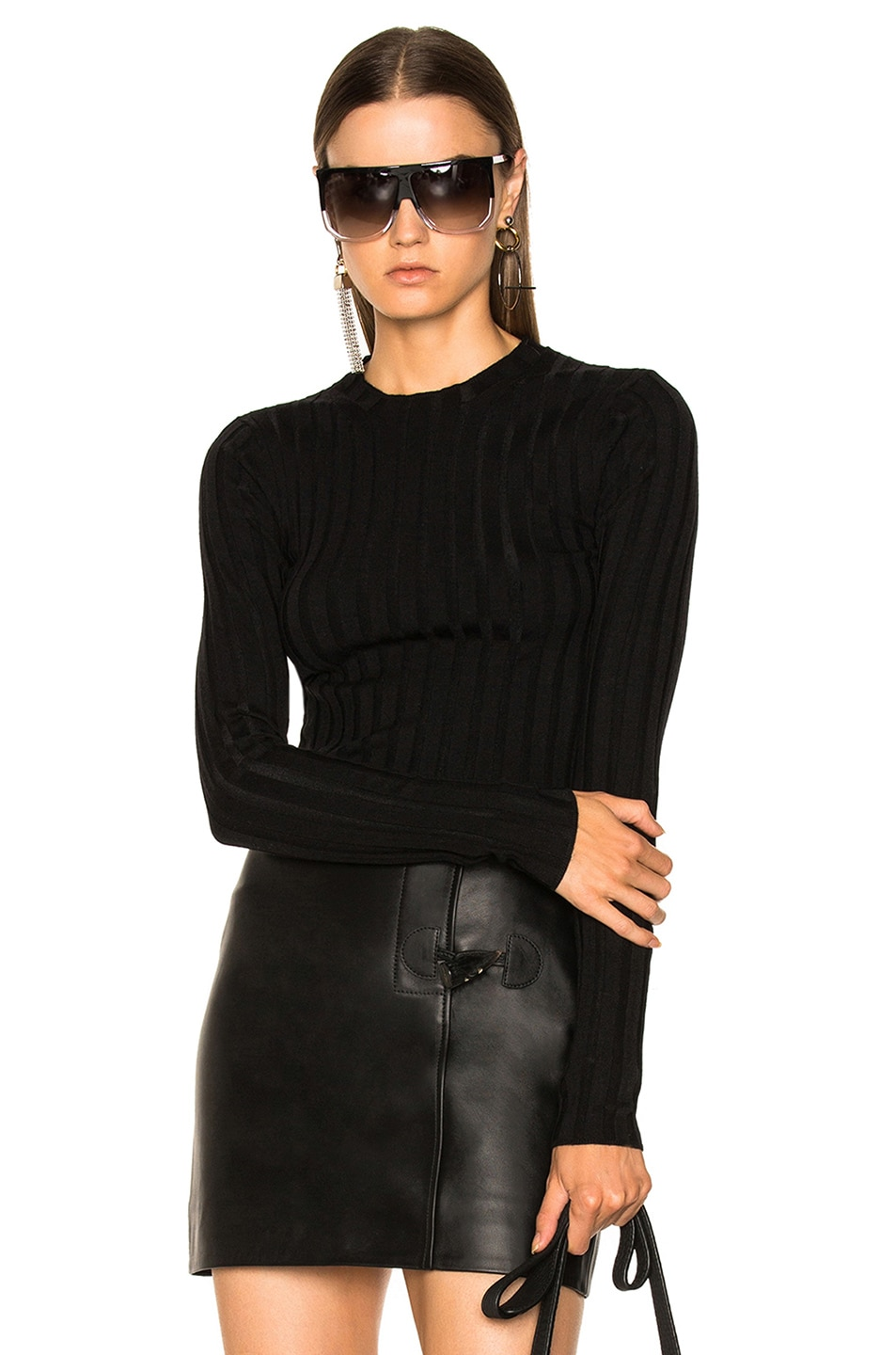 Image 1 of Acne Studios Carina Knit Top in Black
