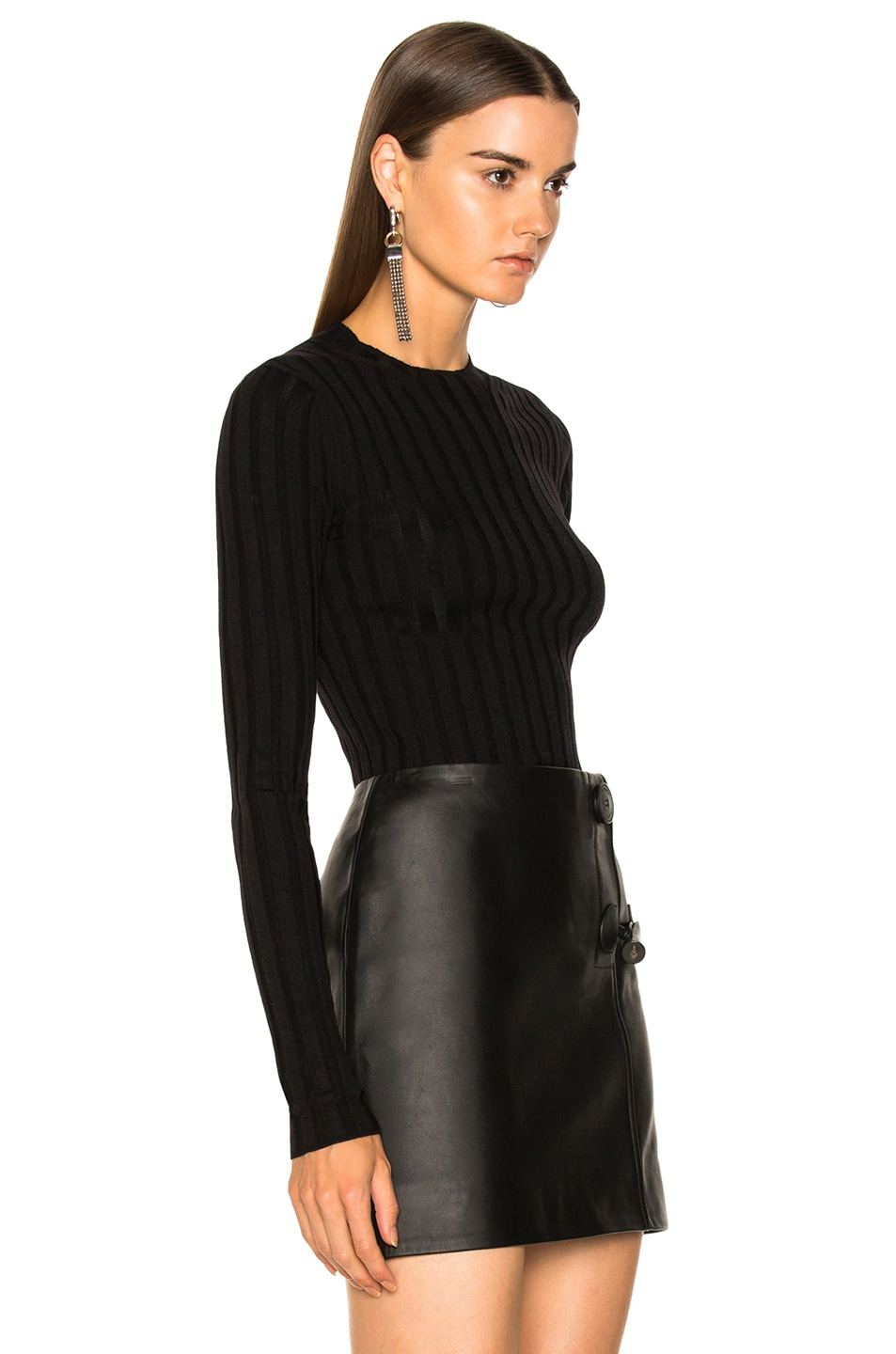 Image 2 of Acne Studios Carina Knit Top in Black