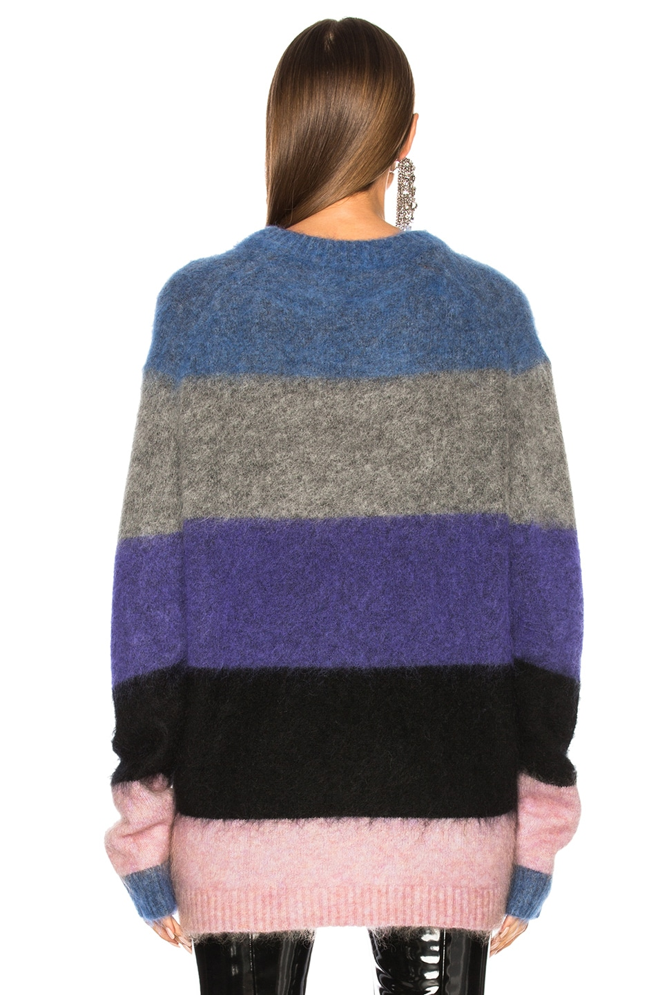 Image 3 of Acne Studios Albah Mohair Sweater in Multi Mix Stripe