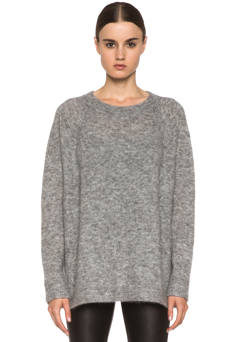 c48a7960fcdd5 Image 1 of Acne Studios Rue Mohair-Blend Sweater in Grey Melanage