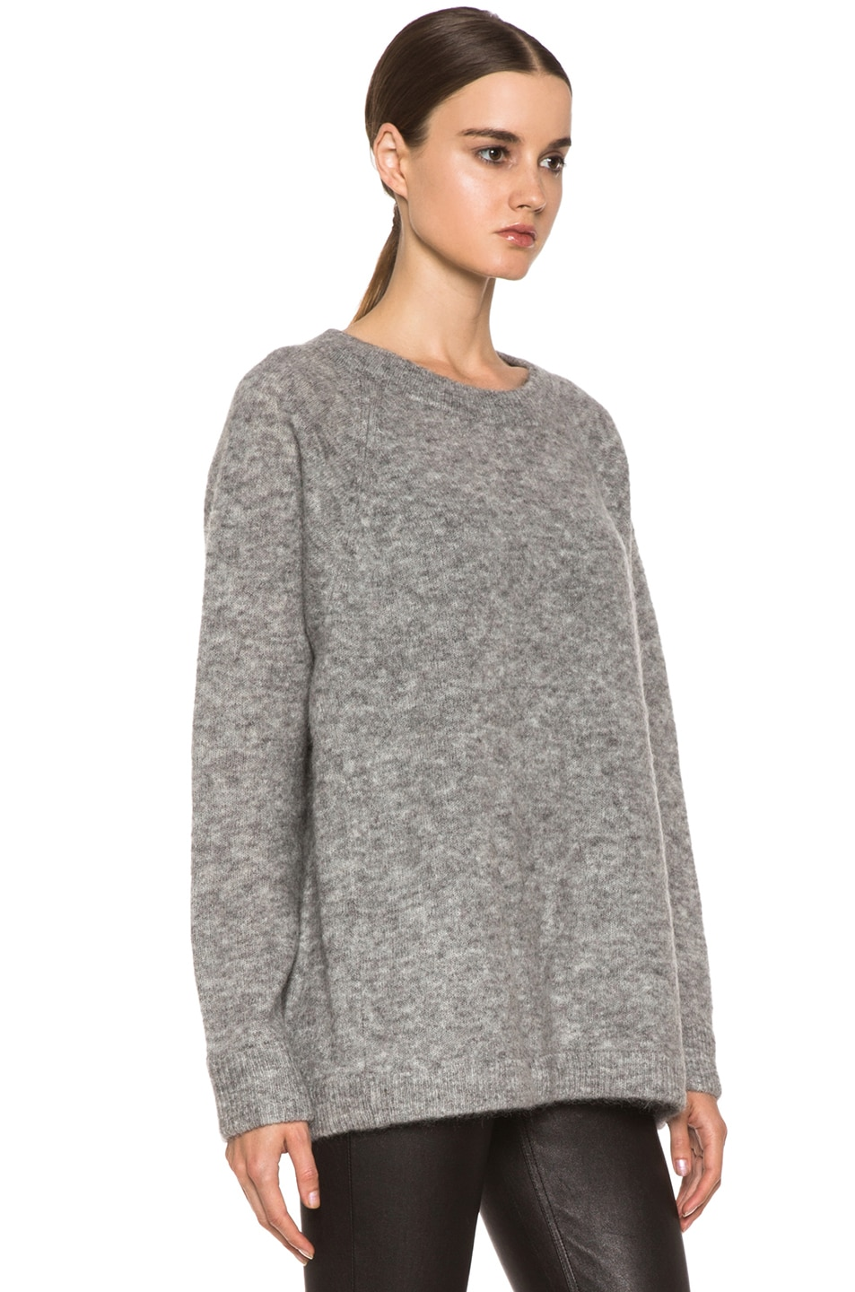 66106c8273c6e Image 3 of Acne Studios Rue Mohair-Blend Sweater in Grey Melanage