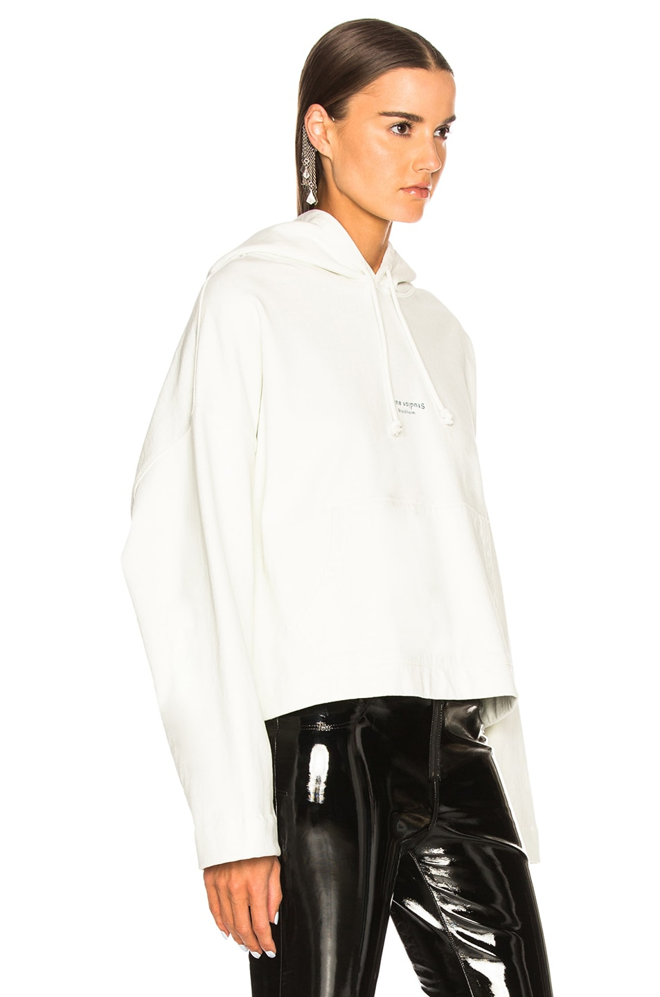 Image 2 of Acne Studios Joggy Hoodie in Ice White