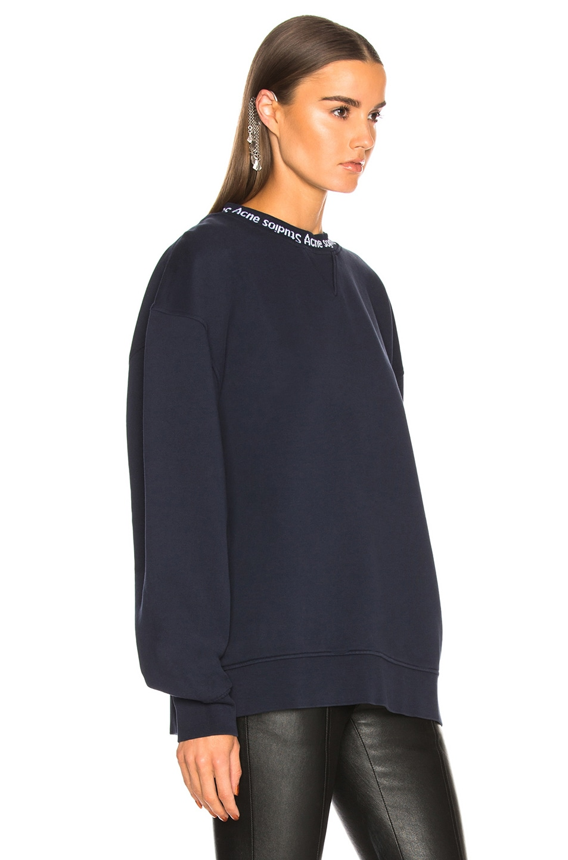 Image 2 of Acne Studios Yana Sweater in Midnight Blue