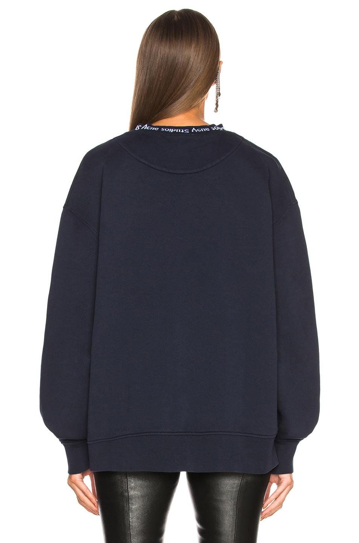 Image 3 of Acne Studios Yana Sweater in Midnight Blue
