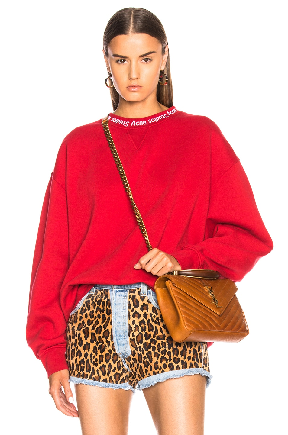 Image 1 of Acne Studios Yana Sweater in Ruby Red