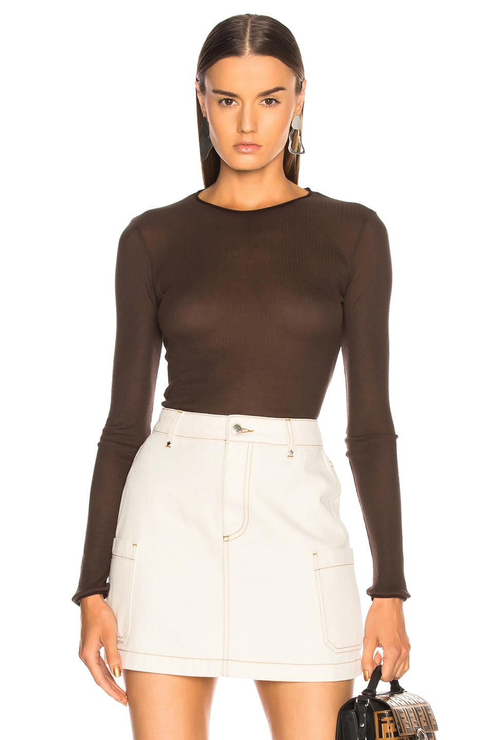 Image 1 of Acne Studios Isabell Sweater in Mushroom Brown