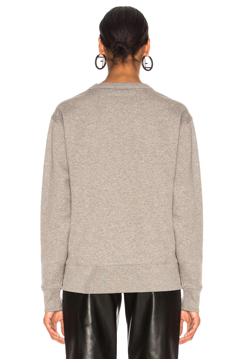 Image 3 of Acne Studios Fairview Face Sweater in Light Grey Melange