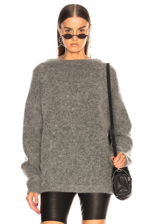 Image 1 of Acne Studios Dramatic Mohair Sweater in Grey Melange