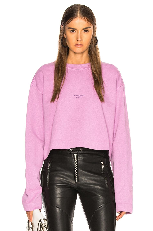 Image 1 of Acne Studios Odice Sweatshirt in Violet Pink