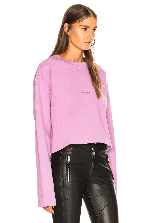 Image 2 of Acne Studios Odice Sweatshirt in Violet Pink