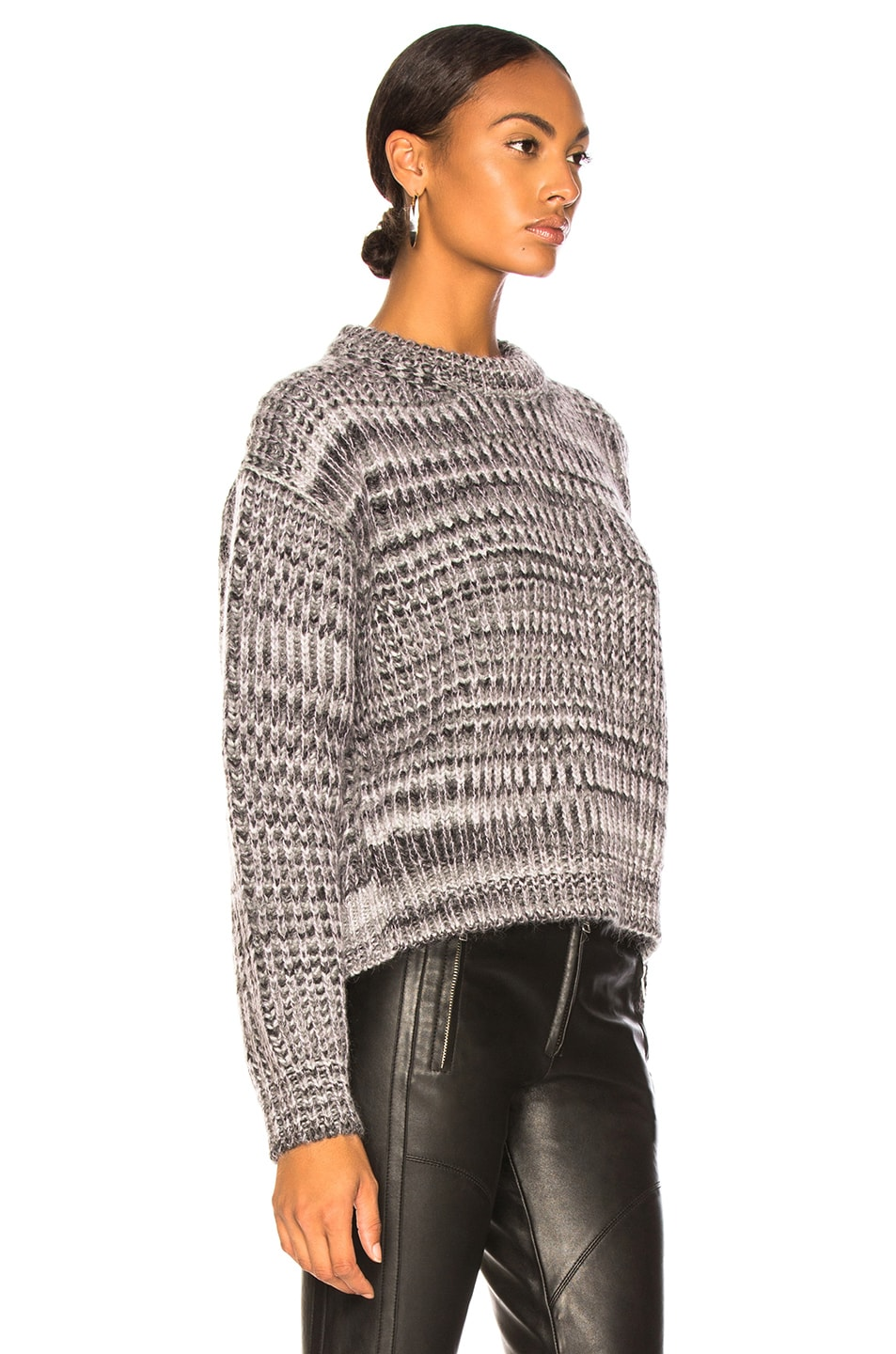 Image 3 of Acne Studios Mixed Sweater in Grey & Lilac