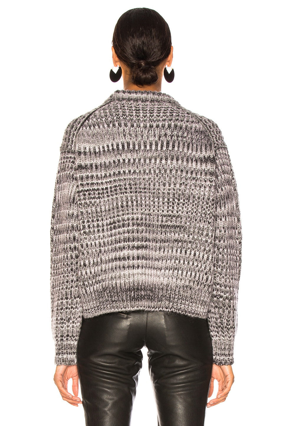 Image 4 of Acne Studios Mixed Sweater in Grey & Lilac