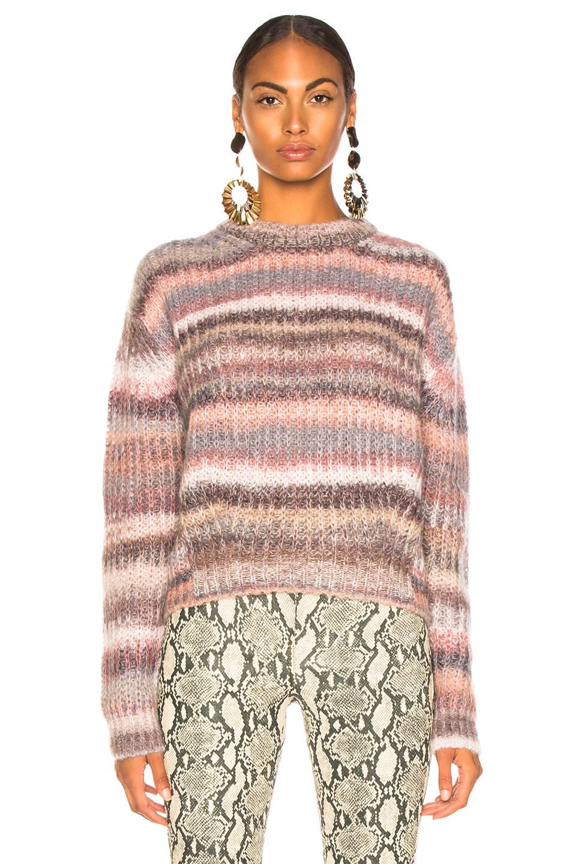 Image 2 of Acne Studios Striped Sweater in Grey Multi