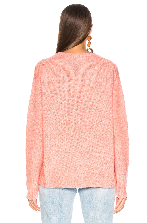 Image 4 of Acne Studios Samara Sweater in Peach Orange