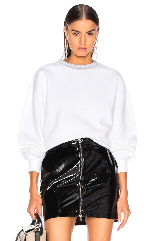 Image 1 of Acne Studios Yana Sweater in Optic White