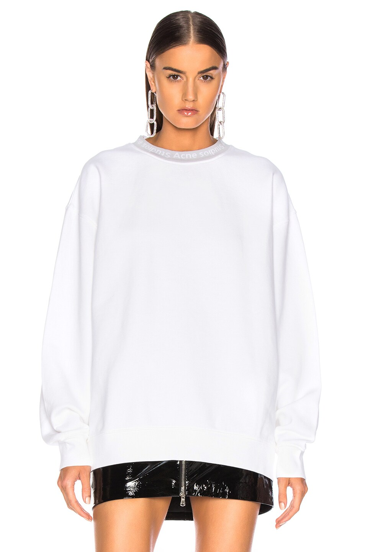 Image 2 of Acne Studios Yana Sweater in Optic White