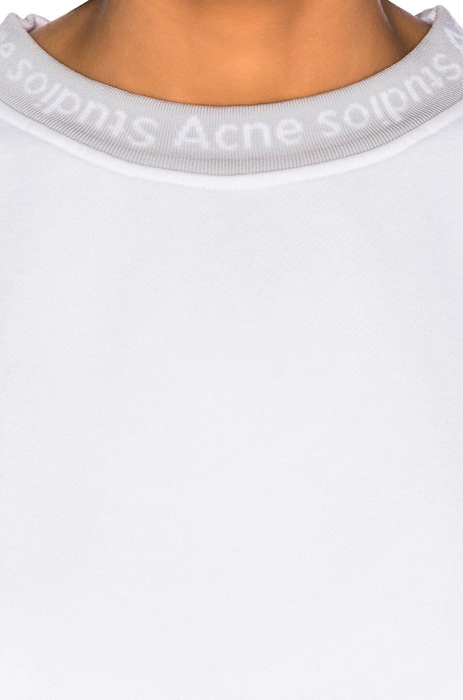Image 6 of Acne Studios Yana Sweater in Optic White