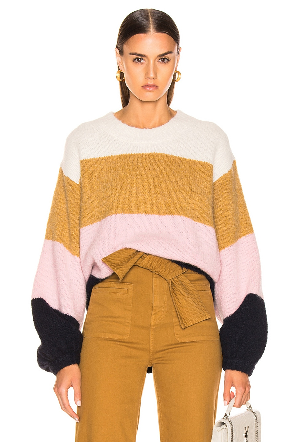 Image 1 of Acne Studios Kazia Sweater in Pink & Navy Multi