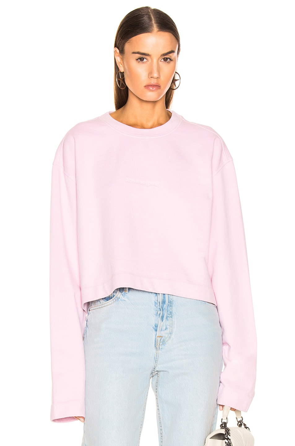 Image 1 of Acne Studios Odice Sweashirt in Light Pink