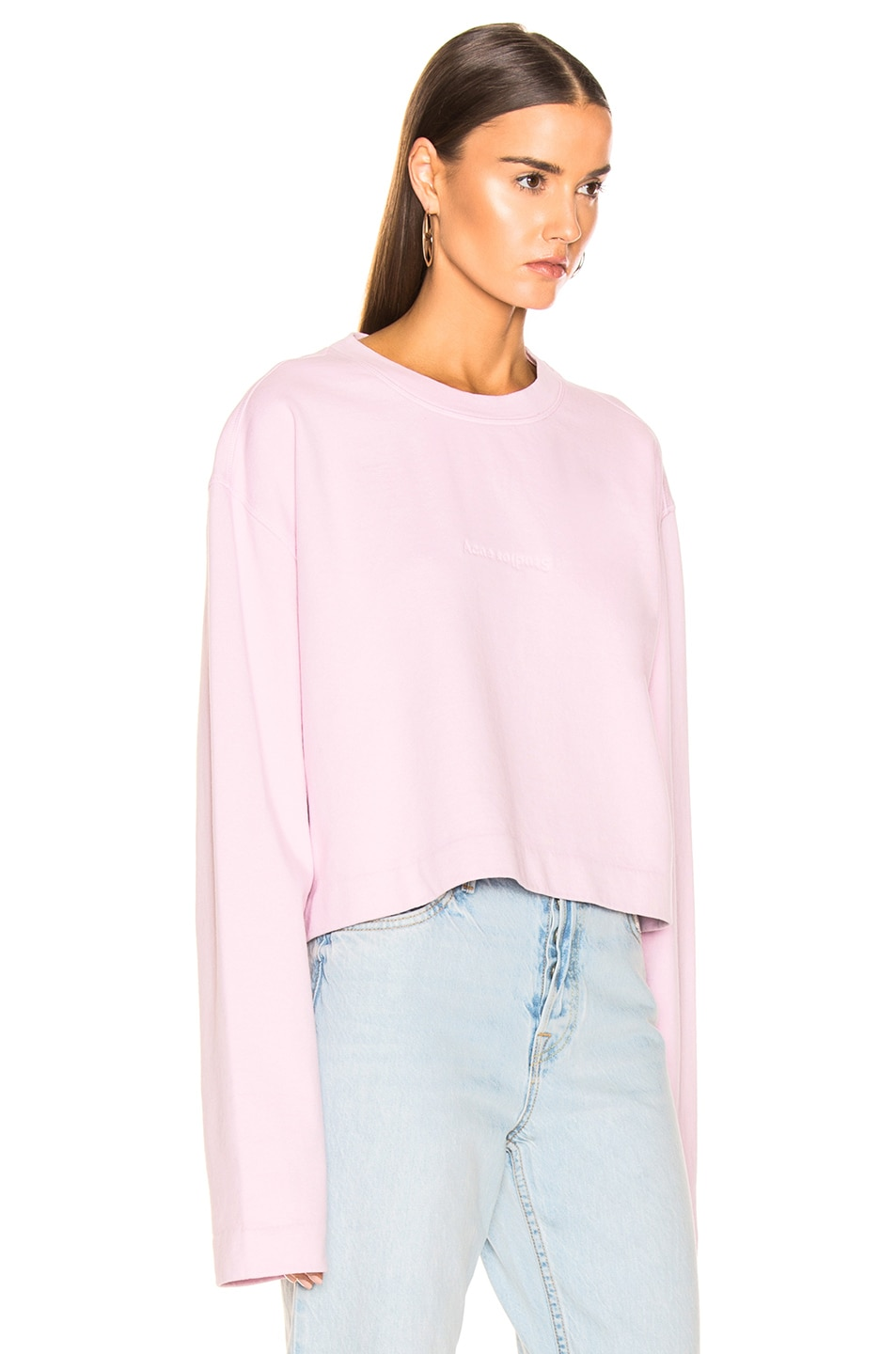 Image 2 of Acne Studios Odice Sweashirt in Light Pink