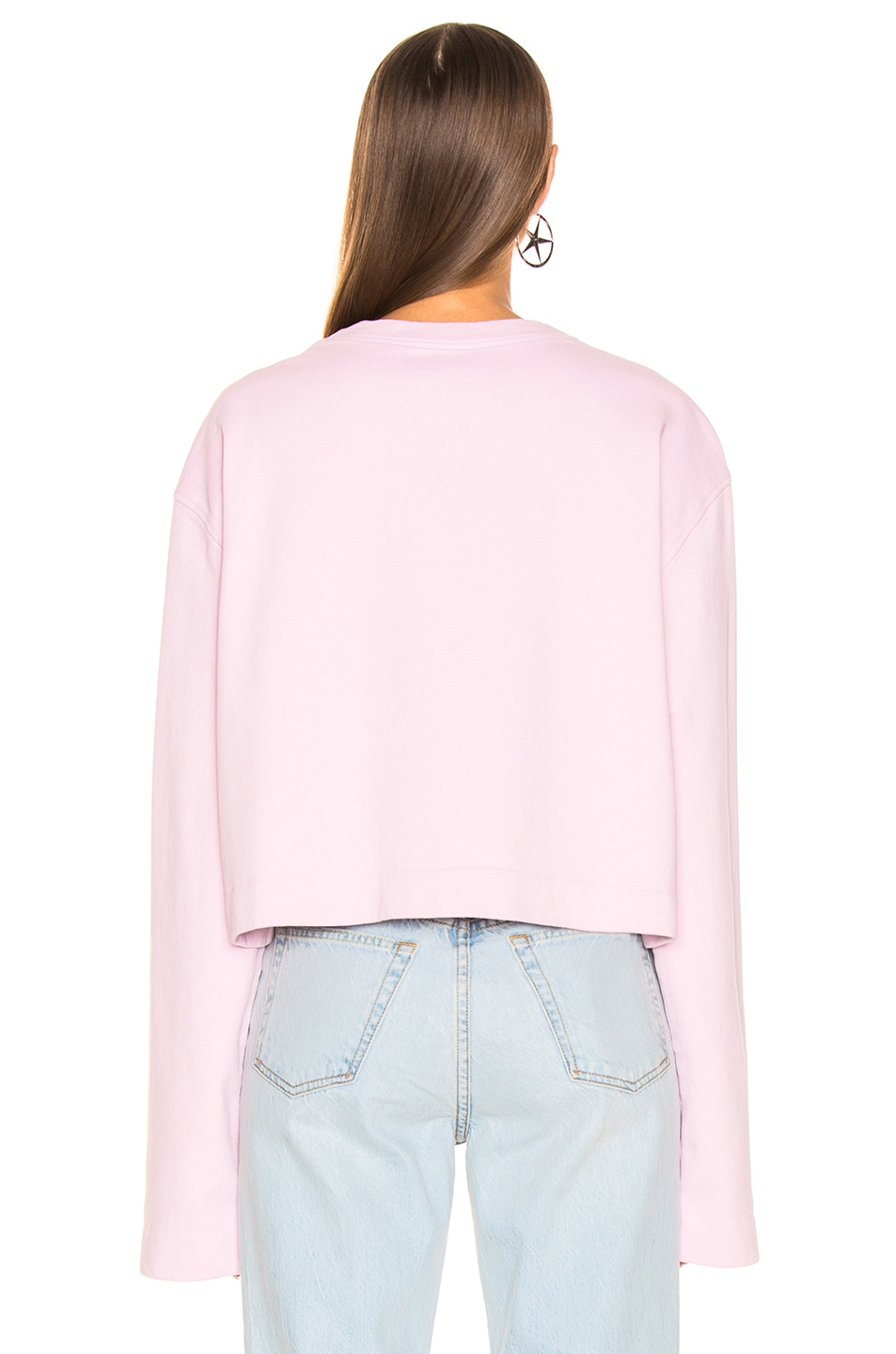 Image 3 of Acne Studios Odice Sweashirt in Light Pink