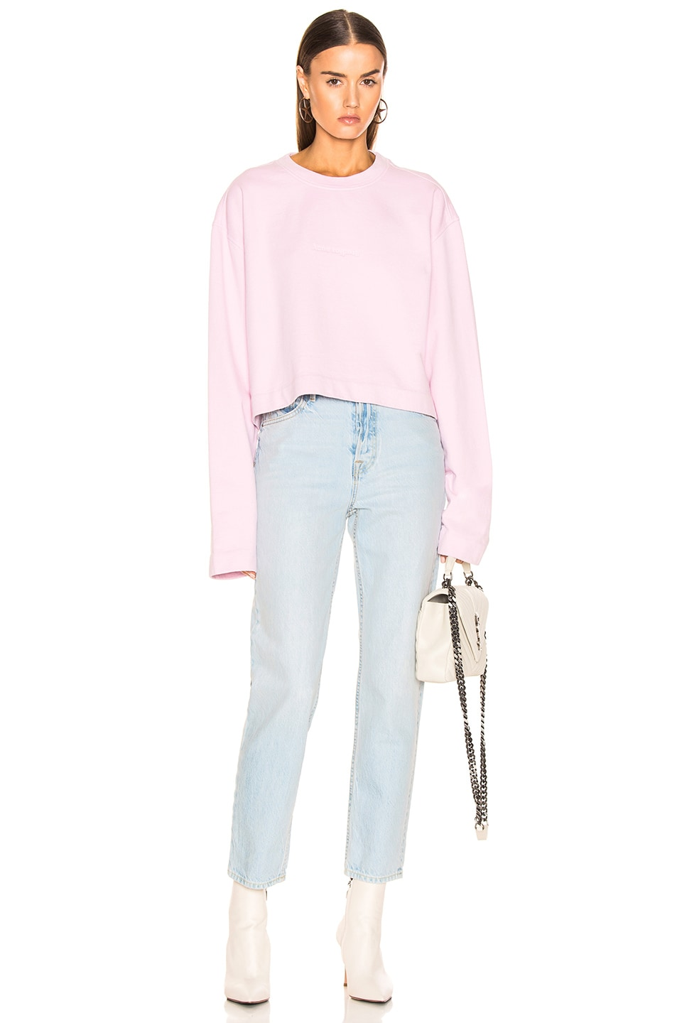 Image 4 of Acne Studios Odice Sweashirt in Light Pink