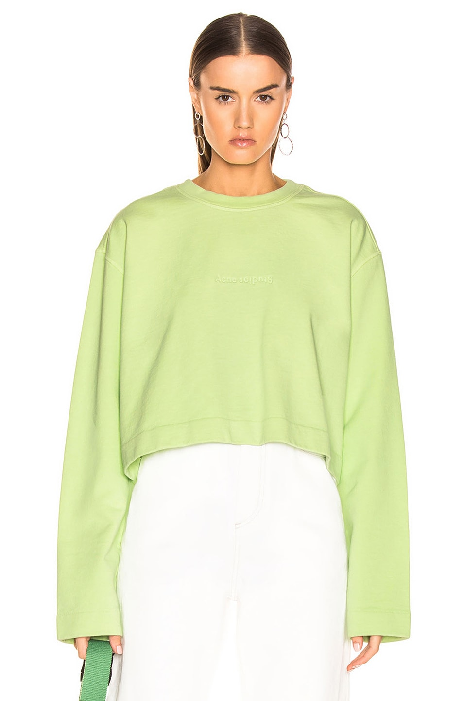 Image 1 of Acne Studios Odice Sweashirt in Lime Green