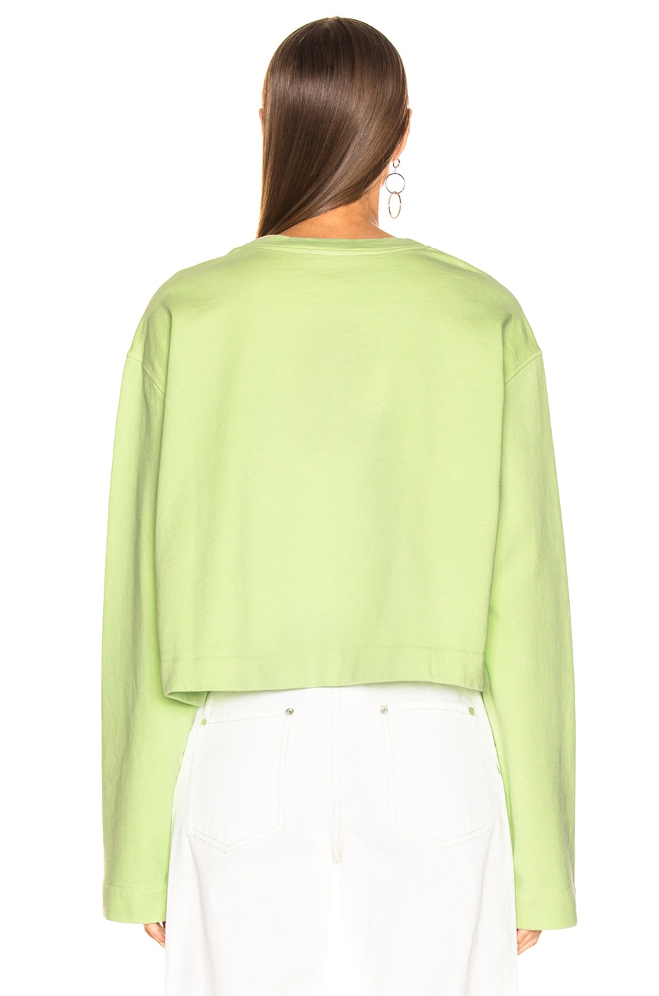 Image 3 of Acne Studios Odice Sweashirt in Lime Green