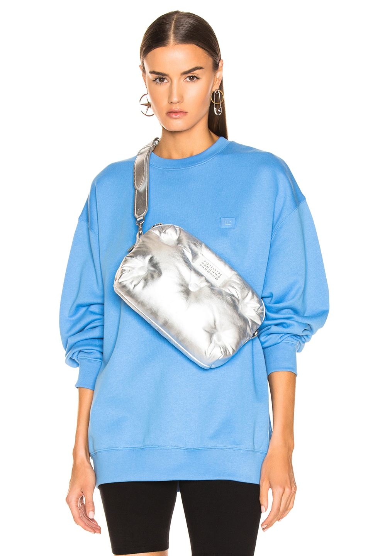Image 1 of Acne Studios Forba Face Sweatshirt in Aqua Blue