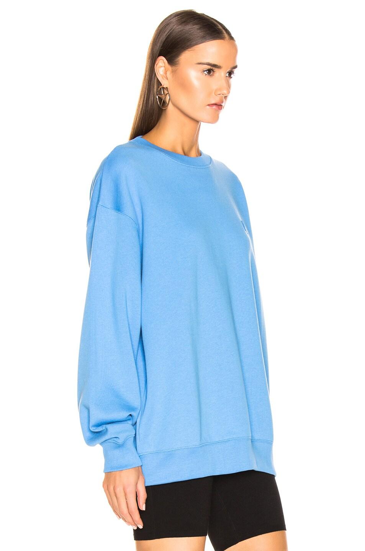 Image 3 of Acne Studios Forba Face Sweatshirt in Aqua Blue
