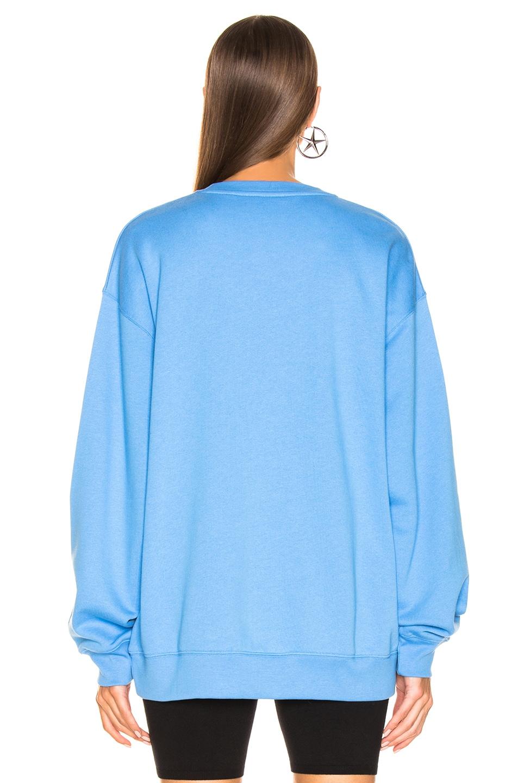 Image 4 of Acne Studios Forba Face Sweatshirt in Aqua Blue