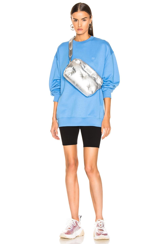 Image 5 of Acne Studios Forba Face Sweatshirt in Aqua Blue
