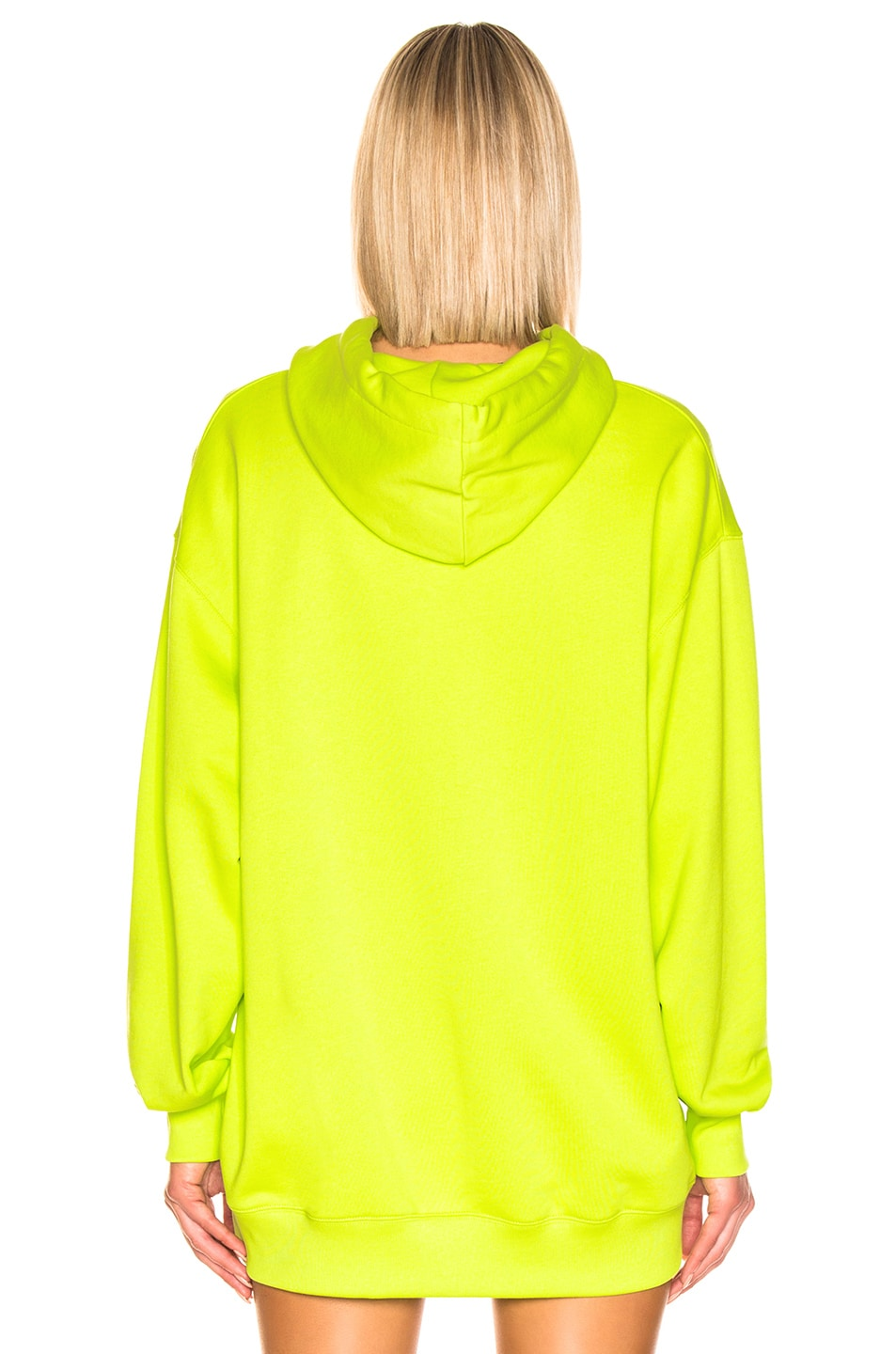 Image 3 of Acne Studios Farrin Face Hoodie in Lime Green