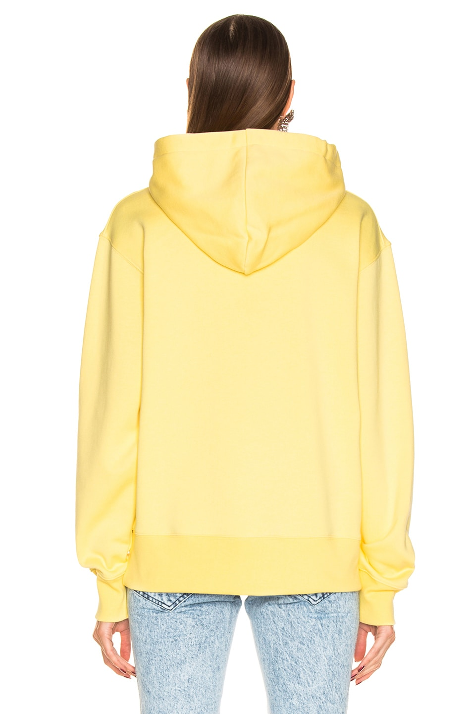 Image 4 of Acne Studios Ferris Face Hoodie in Pale Yellow