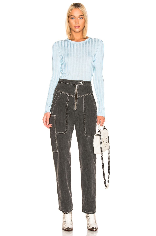 Image 4 of Acne Studios Sitha Sweater in Blue & Aqua