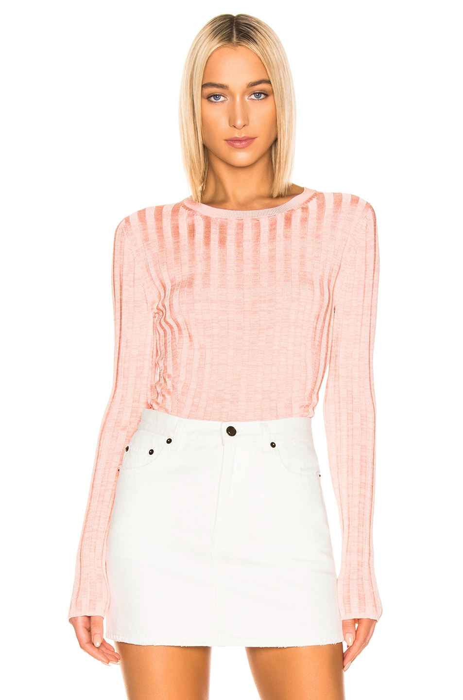 Image 1 of Acne Studios Sitha Sweater in Peach & Pink
