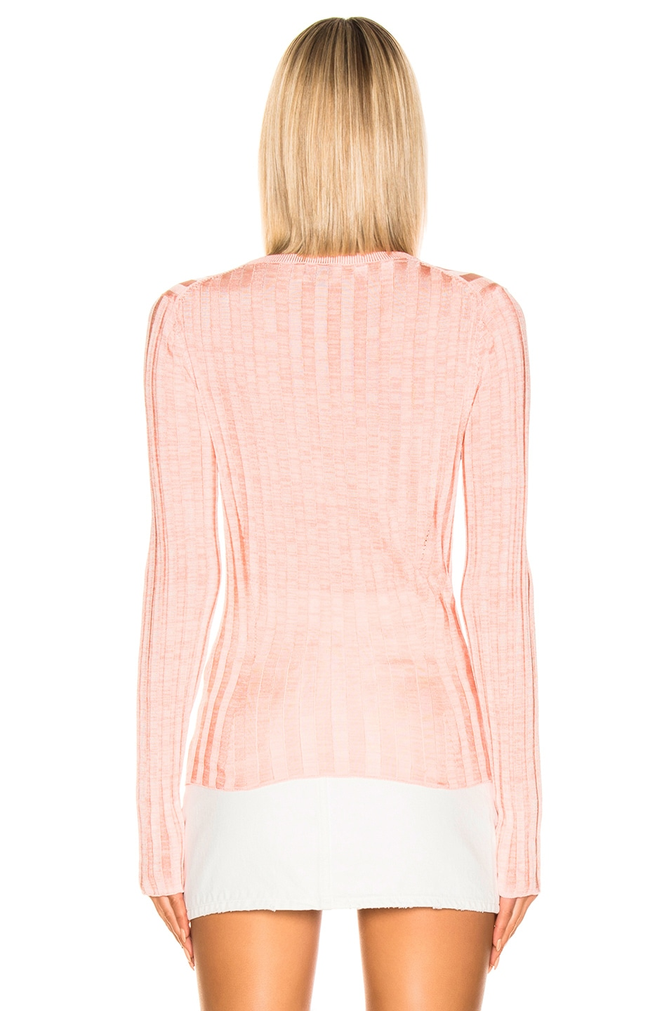 Image 3 of Acne Studios Sitha Sweater in Peach & Pink